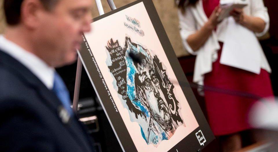 صورة لخاشقجي في فعالية بالكونجرس الأميركي – رويترز